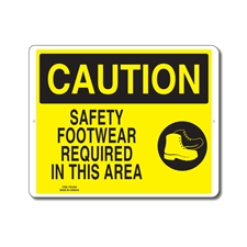 SAFETY FOOTWEAR REQUIRED IN THIS AREA - CAUTION SIGN