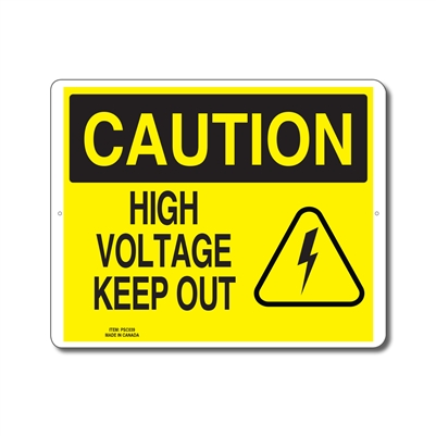 HIGH VOLTAGE KEEP OUT - CAUTION SIGN