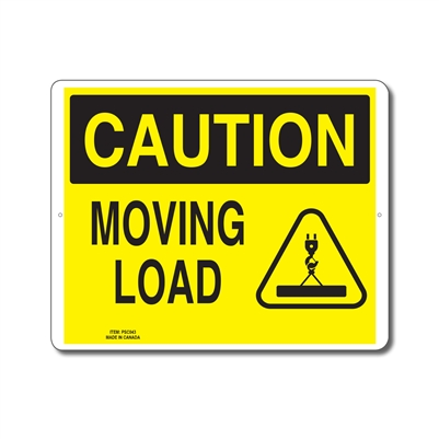 MOVING LOAD - CAUTION SIGN