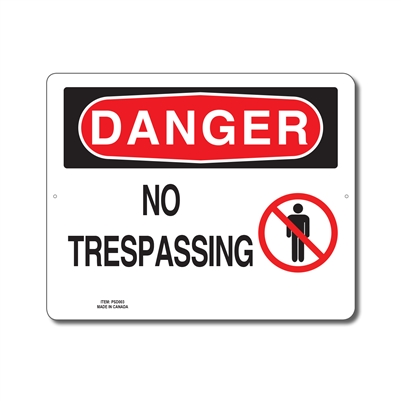 NO TRESPASSING - DANGER SIGN