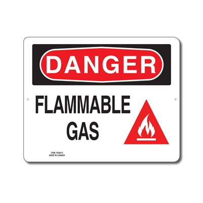 FLAMMABLE GAS - DANGER SIGN