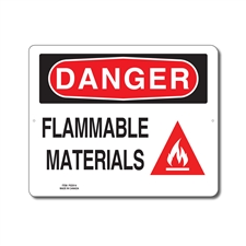 FLAMMABLE MATERIALS - DANGER SIGN