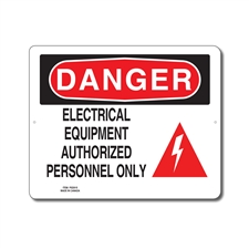ELECTRICAL EQUIPMENT AUTHORIZED PERSONNEL ONLY - DANGER SIGN