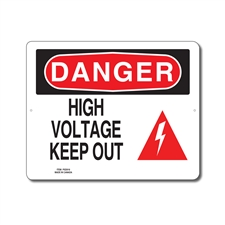 HIGH VOLTAGE KEEP OUT - DANGER SIGN
