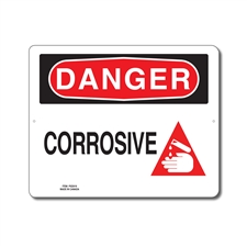 CORROSIVE - DANGER SIGN