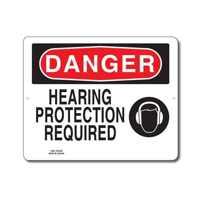 HEARING PROTECTION REQUIRED - DANGER SIGN