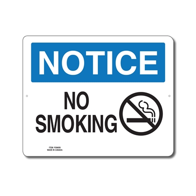NO SMOKING - NOTICE SIGN