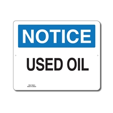 USED OIL - NOTICE SIGN