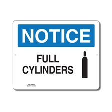 FULL CYLINDERS - NOTICE SIGN