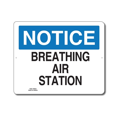 BREATHING AIR STATION - NOTICE SIGN