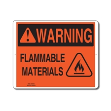 FLAMMABLE MATERIALS - WARNING SIGN