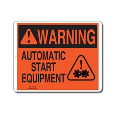 AUTOMATIC START EQUIPMENT - WARNING SIGN