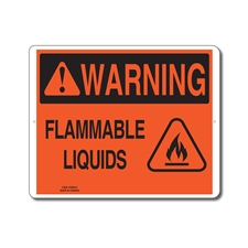 FLAMMABLE LIQUIDS - WARNING SIGN