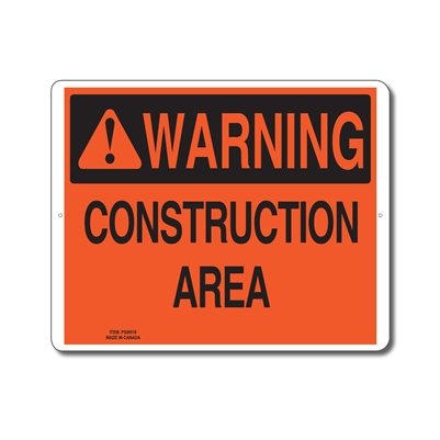 CONSTRUCTION AREA - WARNING SIGN