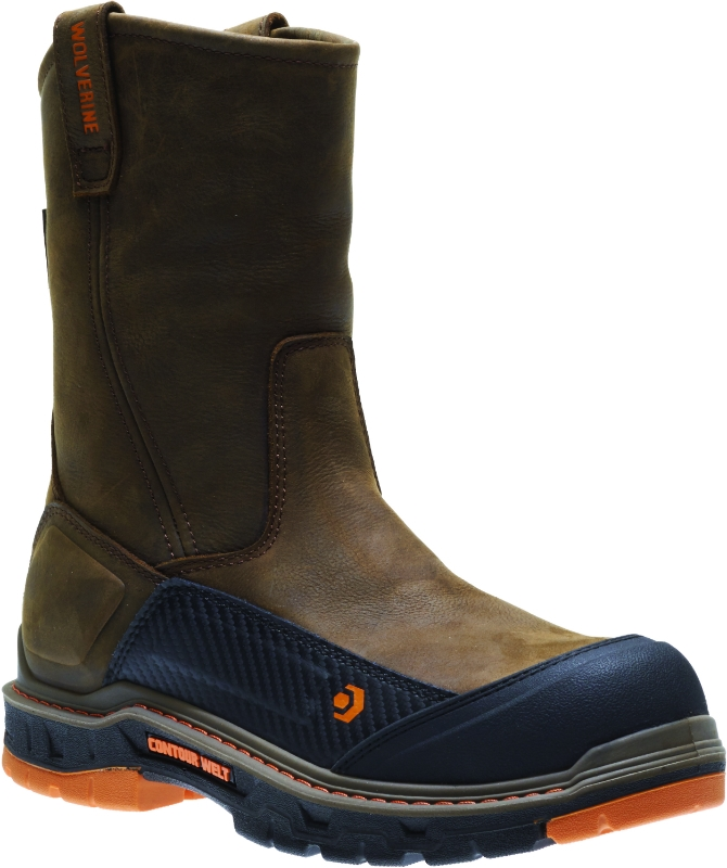 7df5db819f01 Wolverine Men s Overpass Pull-On Carbon Toe Wellington Boots Olean ...