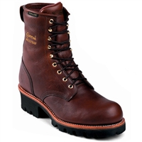 "Chippewa Men's 8"" Insulated Waterproof Redwood Steel Toe Logger 73060"