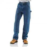 Carhartt Men's Double Knee Washed Denim Logger / Loose Original Fit B73