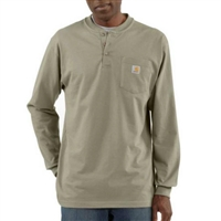 Carhartt Men's Workwear Long Sleeve Henley T-Shirt K128