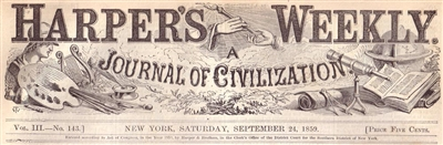Harpers Weekly News Papers, 1859 - 1869