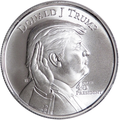 1 oz .999 Silver Commemorative Trump Round