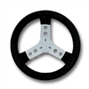 STEERING WHEEL WITH STEEL SPOKES COVERED W/CHAMOIS LEATHER, DIAM.300mm