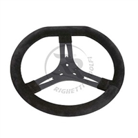 SUEDE STEERING WHEEL DIAMETER 340mm FLAT TOP