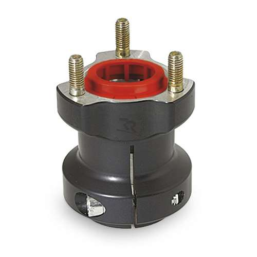ALUMINUM REAR HUB 40mm x 77mm Long , Black