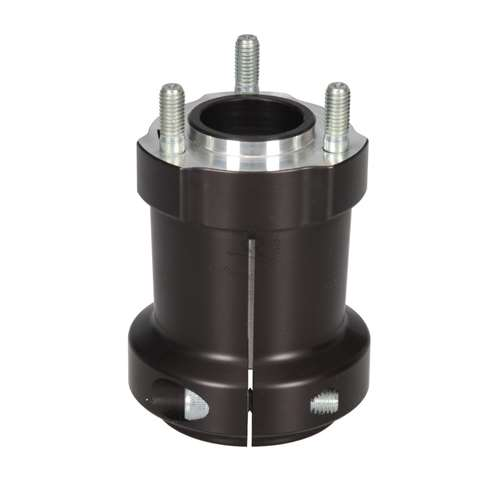 ALUMINUM REAR HUB 50mm x 95mm LONG, BLACK