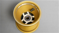 "5"" x 5"" x 17mm Spindle Mount Kart Gold Wheel"