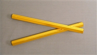 M8 (LEFT - ID) HEXAGONAL TIE-ROD. 6061 GRADE ALLOY ANODIZED GOLD