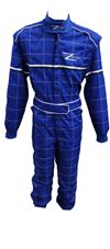 Blue Z-racing Kart Suit