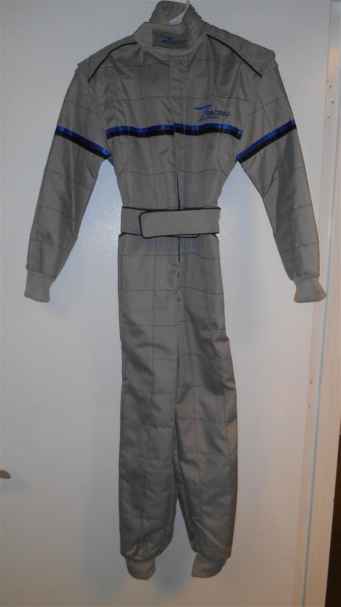 Silver Z-Racing Kart Suit