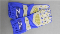 Z Racing Deluxe Gloves Blue/Grey