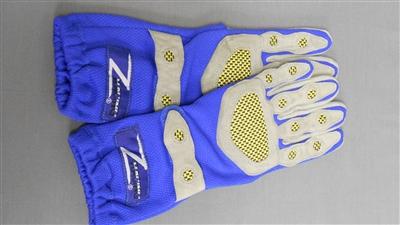Z Racing Deluxe Gloves Blue/Grey