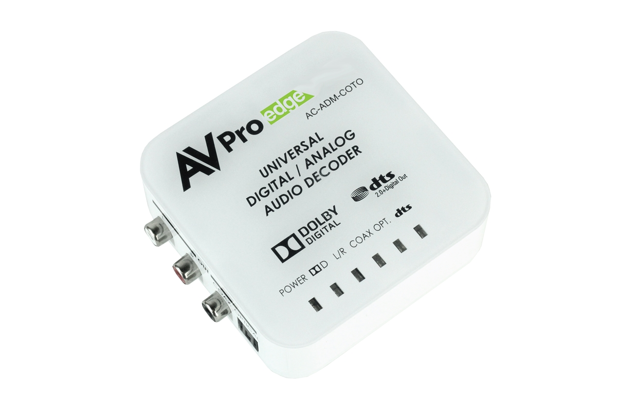 AVPro Edge's Universal Digital/Analog Audio Converter with Dolby® Digital &  DTS®