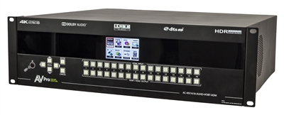 AVPro Edge 18Gbps Downmixing 16x16 HDMI/HDBaseT Matrix Switch