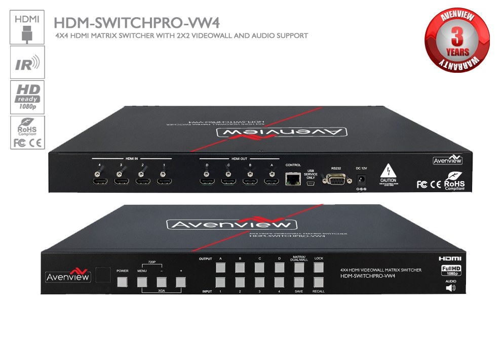 HDM-SWITCHPRO-VW4 (Switch/Wall Processor)