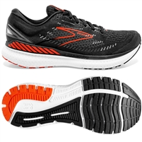 Brooks Glycerin GTS 19 Men's Road Running Shoe. (Black/Grey/Red Clay)