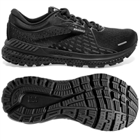 Brooks Adrenaline GTS 21 Women's Road Running Shoe. (Black/Black/Ebony)