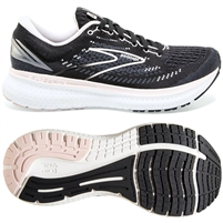 Brooks Glycerin 19 Women's Road Running Shoe. (Black/Ombre/Pimrose)