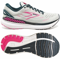 Brooks Glycerin GTS 19 Women's Road Running Shoe. (Ice Flow/Navy/Pink)