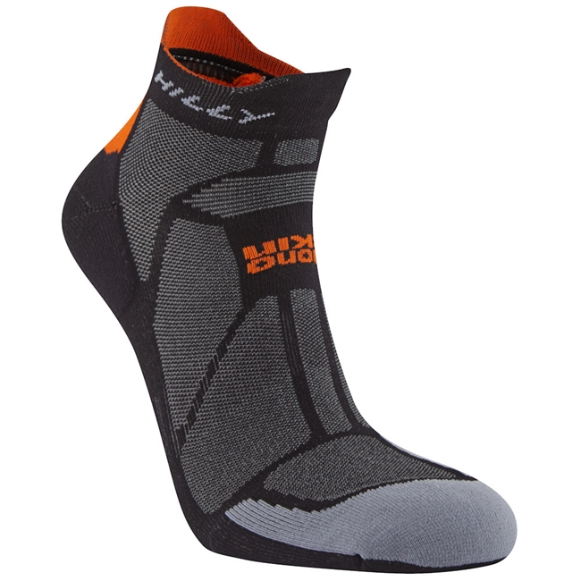 Hilly Marathon Fresh Socklet (Black/Orange)