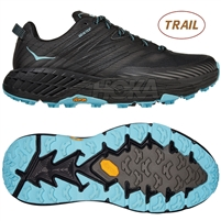 Hoka Speedgoat 4 GTX Women's Trail Running Shoe. (Anthracite/Dark Gull Grey)