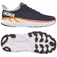 Hoka Clifton 7 Women's Road Running Shoe. (Black Iris / Blue Haze)