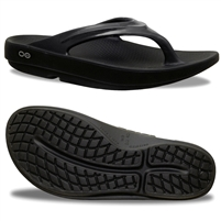 OOFOS WOMEN'S OOLALA BLACK RECOVERY SANDAL (2020)