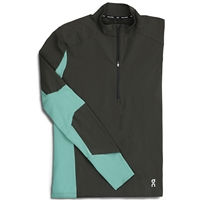 On Trail Breaker Men's Running Top. (Black/Olive)