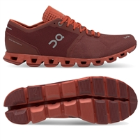 On Cloud X Mens Running Shoe (Sienna/Rust)