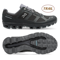 On Cloudventure 2 Waterproof Men's Trail Running Shoe. (Black/Graphite)