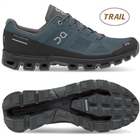 On Cloudventure Men's Trail Running Shoes. (Shadow/Rock)