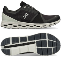 On Cloudstratus Men's Running Shoe. (Black/Mineral)